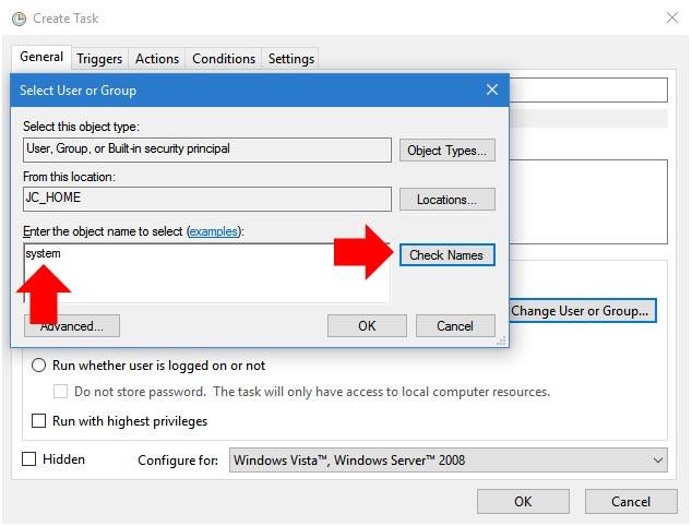 DistriFile · Windows Task Scheduling
